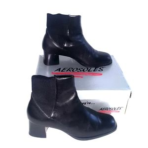 Aerosols leather black stretch leather boots  9